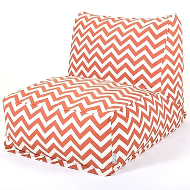 Majestic Home Goods Outdoor Polyester Chevron Bean Bag Chair Lounger, Burnt Orange