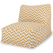 Majestic Home Goods Outdoor Polyester Chevron Bean Bag Chair Lounger, Yellow
