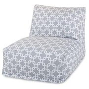 Majestic Home Goods Outdoor Polyester Links Bean Bag Chair Lounger, Gray