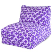 Majestic Home Goods Indoor Links Polyester Bean Bag Chair Lounger, Purple