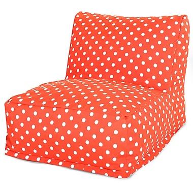 Majestic Home Goods Outdoor Polyester Ikat Dot Bean Bag Chair Lounger, Orange