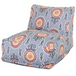 Majestic Home Goods Outdoor Polyester Michelle Bean Bag Chair Lounger, Citrus