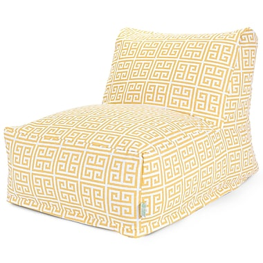 Majestic Home Goods Outdoor Polyester Towers Bean Bag Chair Lounger, Citrus