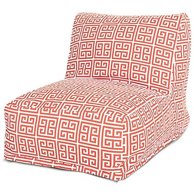 Majestic Home Goods Outdoor Polyester Towers Bean Bag Chair Lounger, Orange