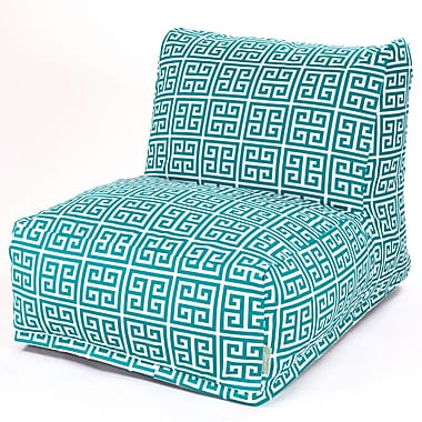 Majestic Home Goods Outdoor Polyester Towers Bean Bag Chair Lounger, Pacific