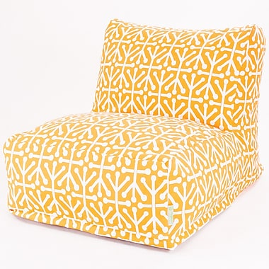 Majestic Home Goods Outdoor Polyester Aruba Bean Bag Chair Lounger, Citrus
