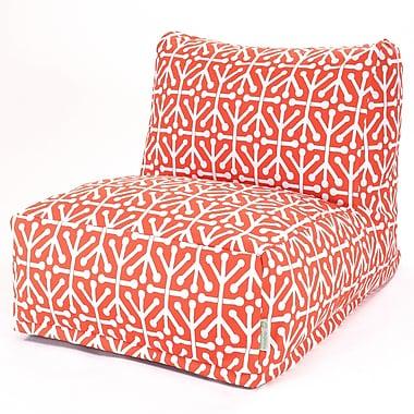 Majestic Home Goods Outdoor Polyester Aruba Bean Bag Chair Lounger, Orange