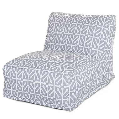 Majestic Home Goods Outdoor Polyester Aruba Bean Bag Chair Lounger, Gray