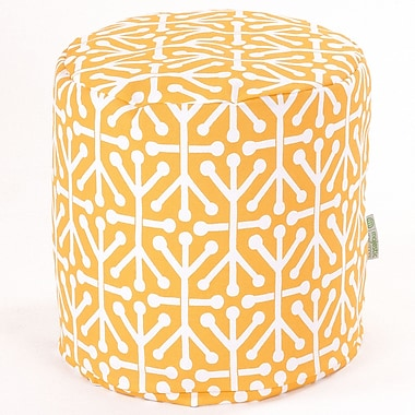 Majestic Home Goods Outdoor Polyester Aruba Small Pouf Ottomans