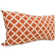 Majestic Home Goods Indoor/Outdoor Bamboo Small Pillow, Burnt Orange