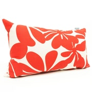 Majestic Home Goods Indoor/Outdoor Plantation Small Pillow, Red