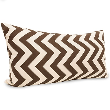 Majestic Home Goods Indoor/Outdoor Chevron Small Pillow, Chocolate