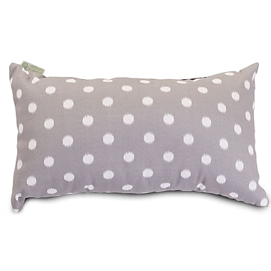 Majestic Home Goods Indoor/Outdoor Ikat Dot Small Pillow, Gray