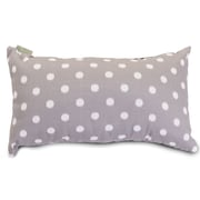 Majestic Home Goods Indoor/Outdoor Ikat Dot Small Pillow, Gray