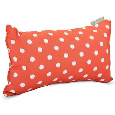 Majestic Home Goods Indoor/Outdoor Ikat Dot Small Pillow, Orange