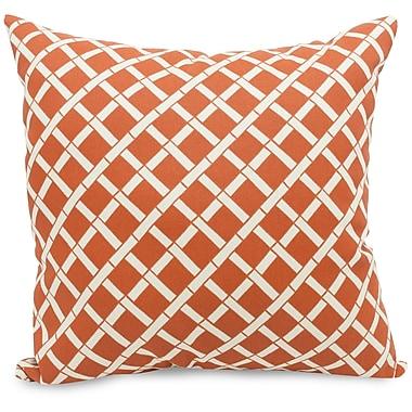 Majestic Home Goods Indoor/Outdoor Bamboo Large Pillow, Burnt Orange