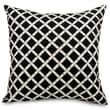 Majestic Home Goods Indoor/Outdoor Bamboo Large Pillow, Black