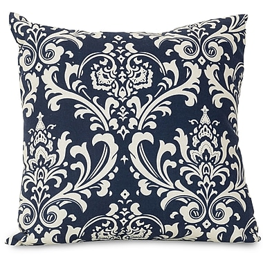 Majestic Home Goods Indoor/Outdoor French Quarter Large Pillow, Navy Blue