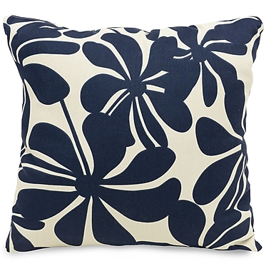 Majestic Home Goods Indoor/Outdoor Plantation Large Pillow, Navy Blue