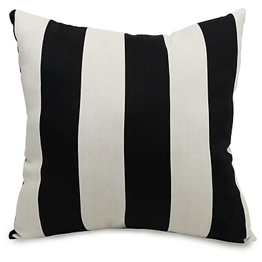 Majestic Home Goods Indoor/Outdoor Vertical Stripe Large Pillow, Black