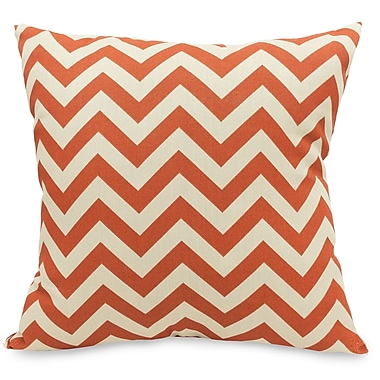 Majestic Home Goods Indoor/Outdoor Chevron Large Pillow, Burnt Orange