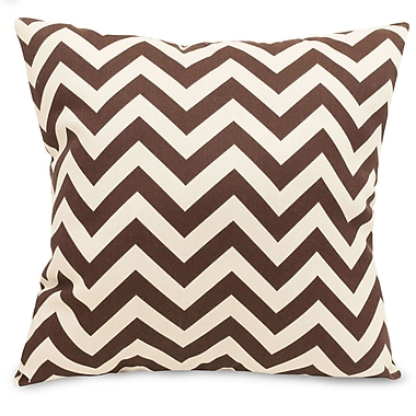 Majestic Home Goods Indoor/Outdoor Chevron Large Pillow, Chocolate