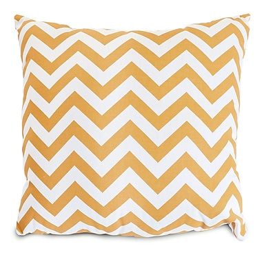 Majestic Home Goods Indoor/Outdoor Chevron Large Pillow, Yellow