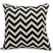 Majestic Home Goods Indoor/Outdoor Chevron Large Pillow, Black