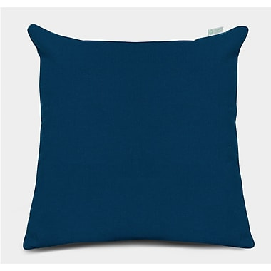 Majestic Home Goods Indoor/Outdoor Solid Large Pillow, Navy Blue