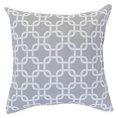 Majestic Home Goods Indoor/Outdoor Links Large Indoor/Outdoor Pillow, Gray