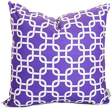 Majestic Home Goods Indoor Links Large Pillow, Purple