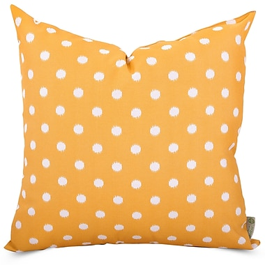 Majestic Home Goods Indoor/Outdoor Ikat Dot Large Pillow, Citrus