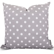 Majestic Home Goods Indoor/Outdoor Ikat Dot Large Pillow, Gray