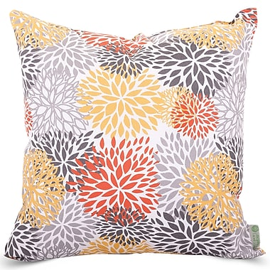 Majestic Home Goods Indoor/Outdoor Blooms Large Pillow, Citrus