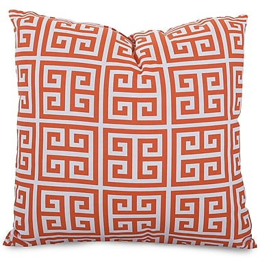 Majestic Home Goods Indoor/Outdoor Towers Extra Large Pillow, Orange