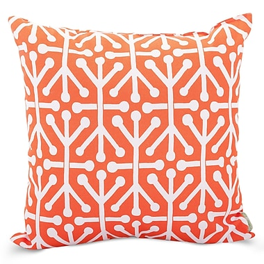 Majestic Home Goods Indoor/Outdoor Aruba Extra Large Pillow, Orange
