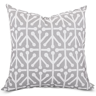 Majestic Home Goods Indoor/Outdoor Aruba Extra Large Pillow, Gray