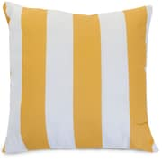 Majestic Home Goods Indoor/Outdoor Vertical Stripe Extra Large Pillow, Yellow