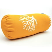 Majestic Home Goods Indoor/Outdoor Coral Round Bolster Pillow, Yellow