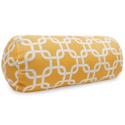 Majestic Home Goods Indoor/Outdoor Links Round Bolster Indoor/Outdoor Pillow, Yellow