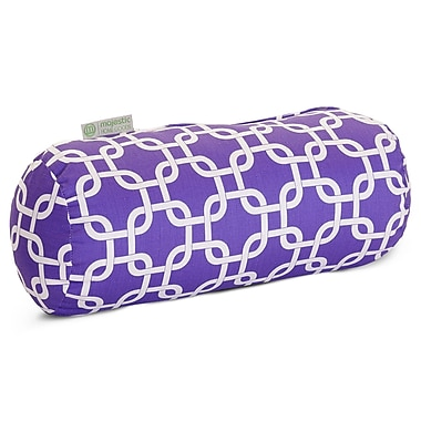 Majestic Home Goods Indoor Links Round Bolster Pillow, Purple