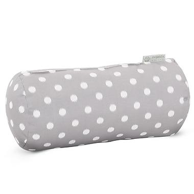 Majestic Home Goods Indoor/Outdoor Ikat Dot Round Bolster Pillow, Gray