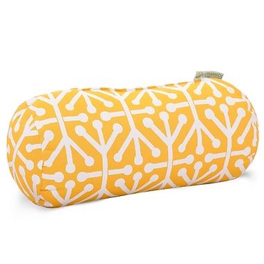 Majestic Home Goods Indoor/Outdoor Aruba Round Bolster Pillow, Citrus