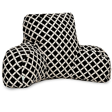 Majestic Home Goods Outdoor/Indoor Bamboo Reading Pillow, Black