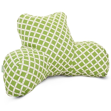 Majestic Home Goods Outdoor/Indoor Bamboo Reading Pillow, Sage