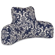 Majestic Home Goods Outdoor/Indoor French Quarter Reading Pillow, Navy Blue