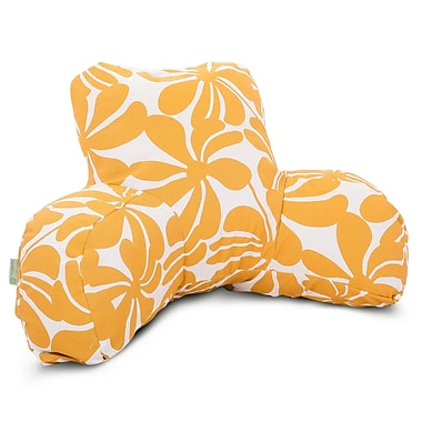 Majestic Home Goods Outdoor/Indoor Plantation Reading Pillow, Yellow