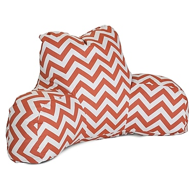 Majestic Home Goods Outdoor/Indoor Chevron Reading Pillow, Burnt Orange