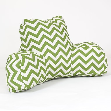 Majestic Home Goods Outdoor/Indoor Chevron Reading Pillow, Sage
