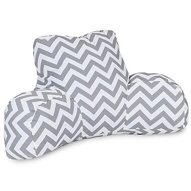 Majestic Home Goods Outdoor/Indoor Chevron Reading Pillow, Gray